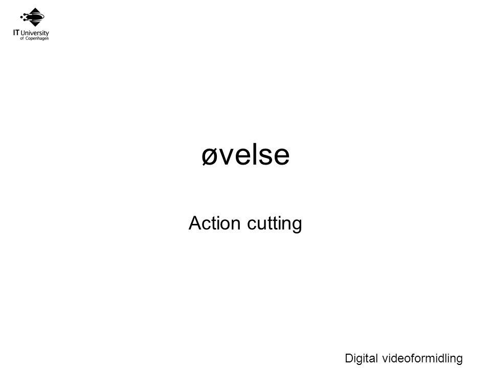 øvelse Action cutting