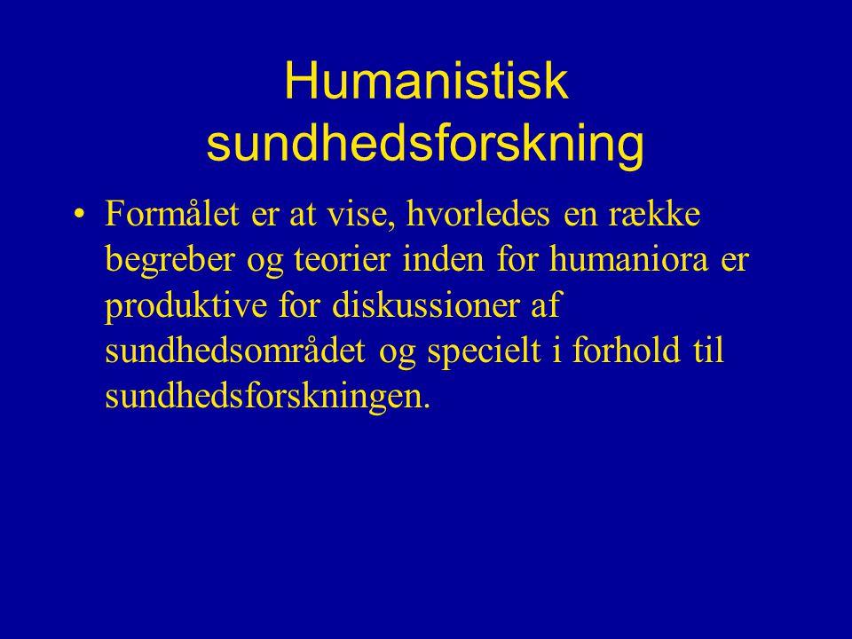 Humanistisk sundhedsforskning