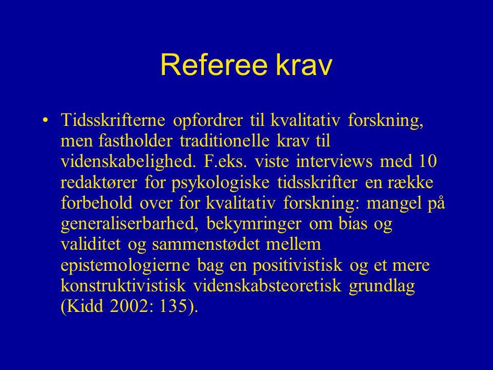Referee krav
