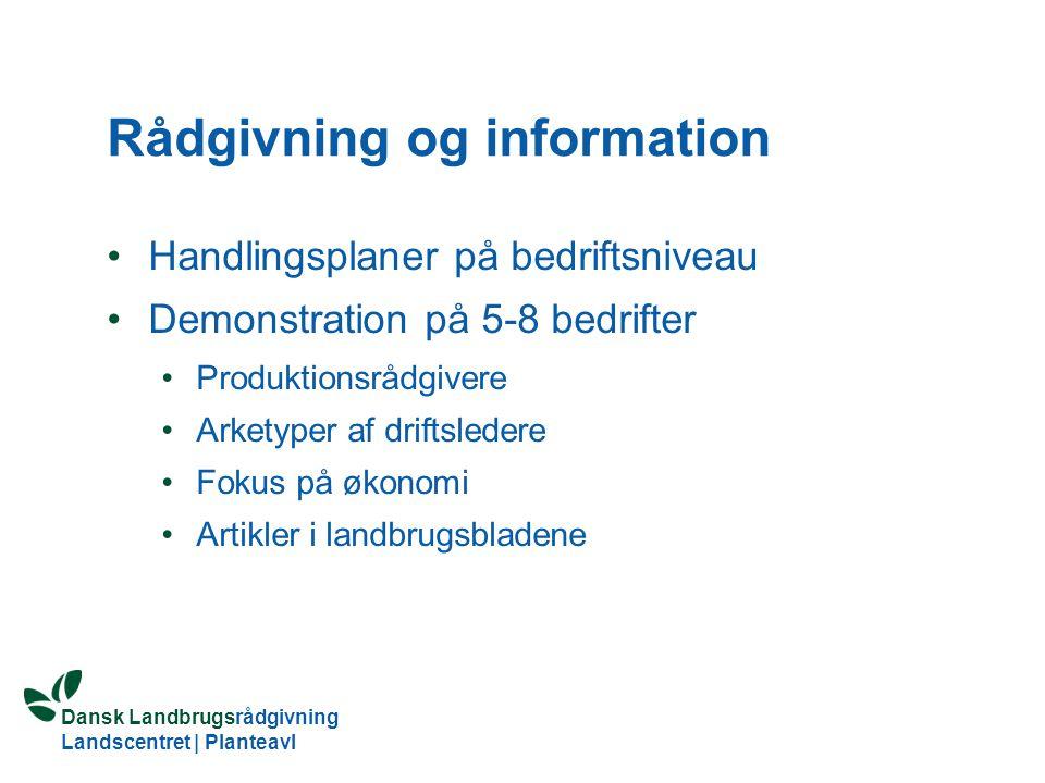 Rådgivning og information