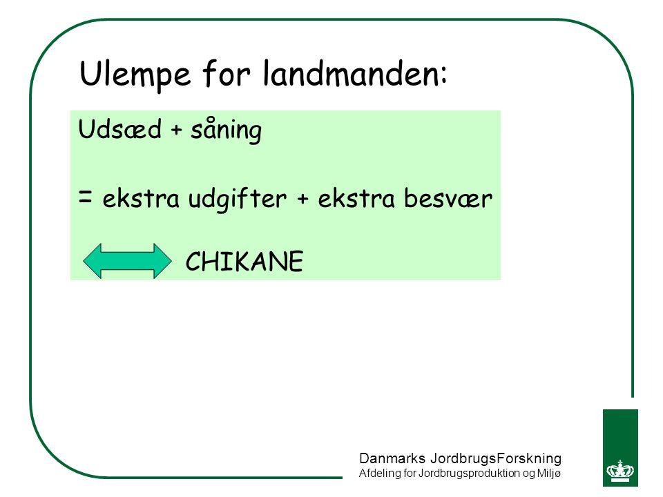 Ulempe for landmanden:
