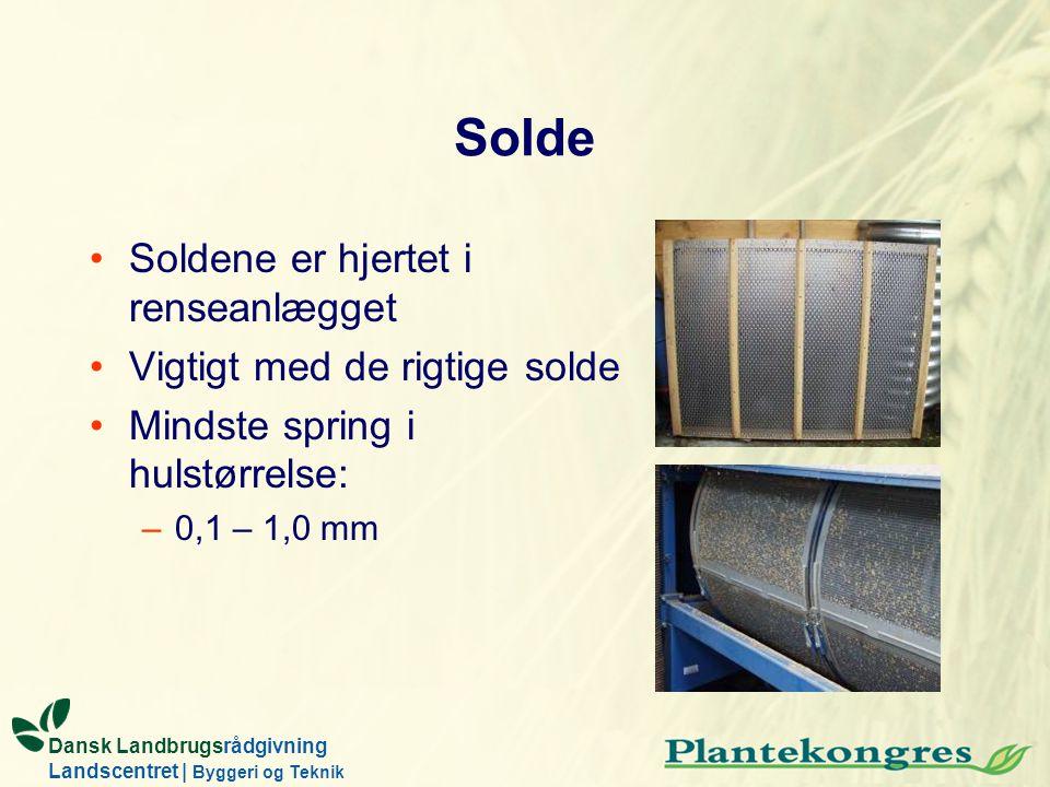 Solde Soldene er hjertet i renseanlægget Vigtigt med de rigtige solde