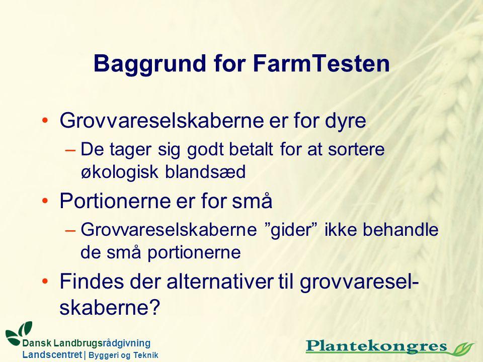 Baggrund for FarmTesten