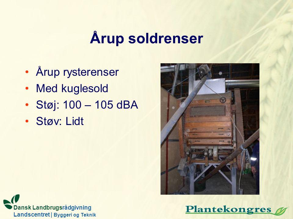 Årup soldrenser Årup rysterenser Med kuglesold Støj: 100 – 105 dBA