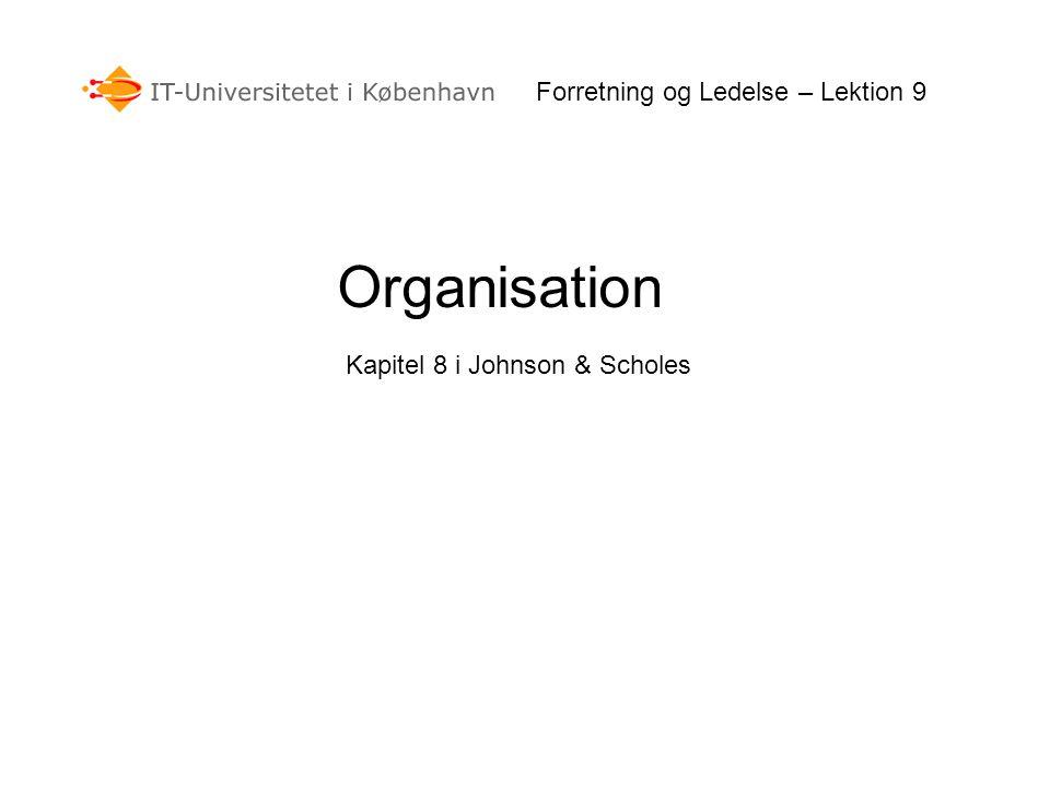 Organisation Forretning og Ledelse – Lektion 9