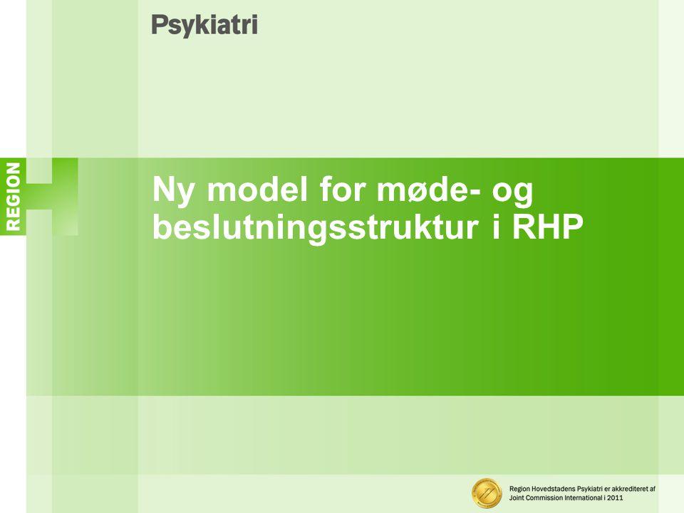 Ny model for møde- og beslutningsstruktur i RHP