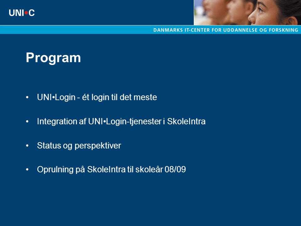 Program UNI•Login - ét login til det meste