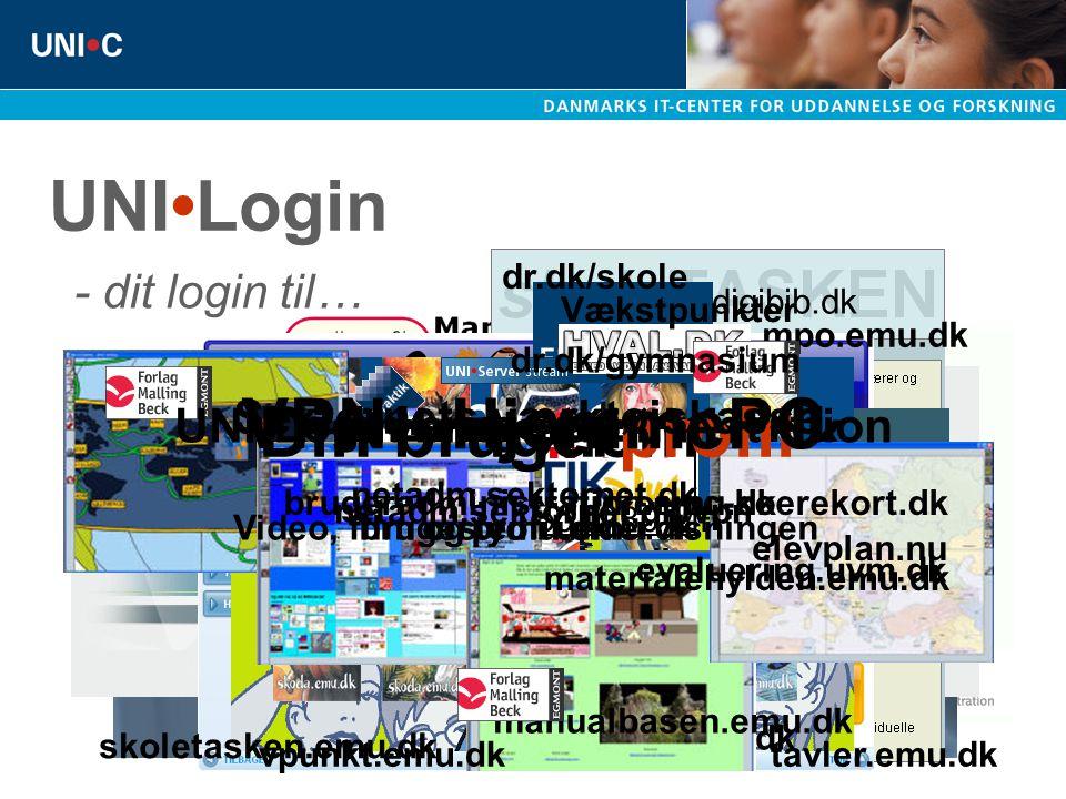 UNI•Login SkoleIntra VPN - HjemmePC pakkepost.emu.dk Din brugerprofil