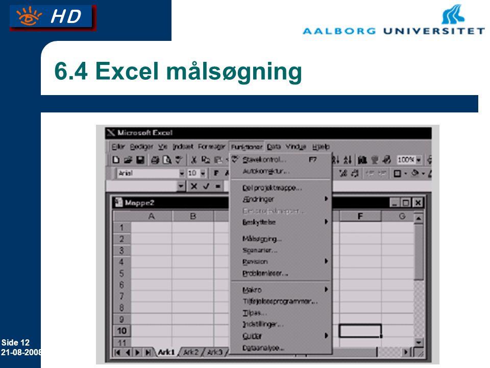 6.4 Excel målsøgning