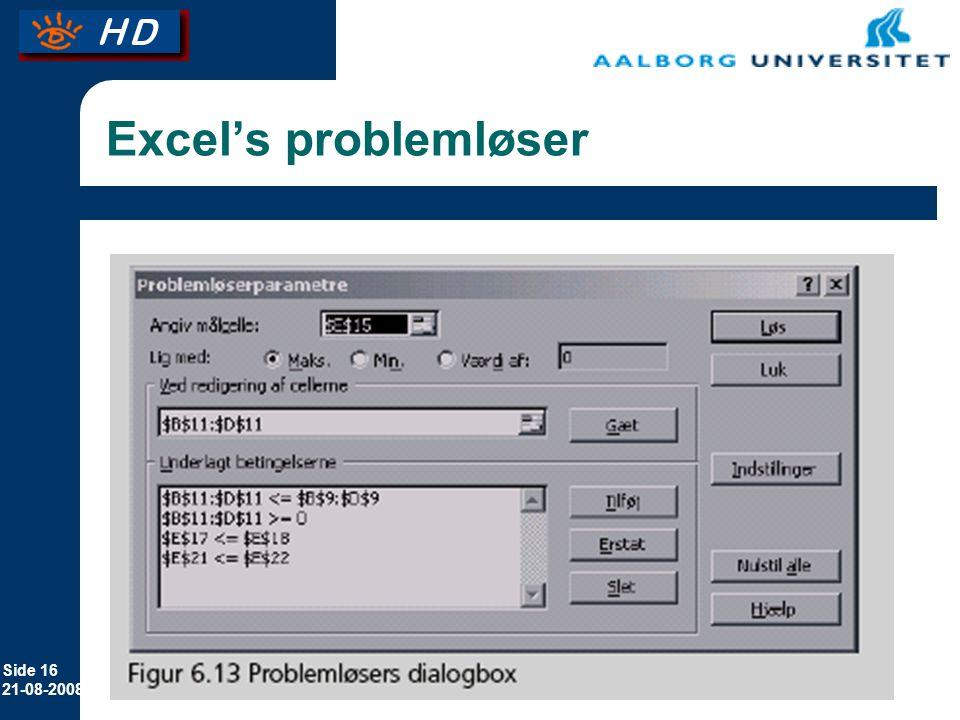 Excel's problemløser