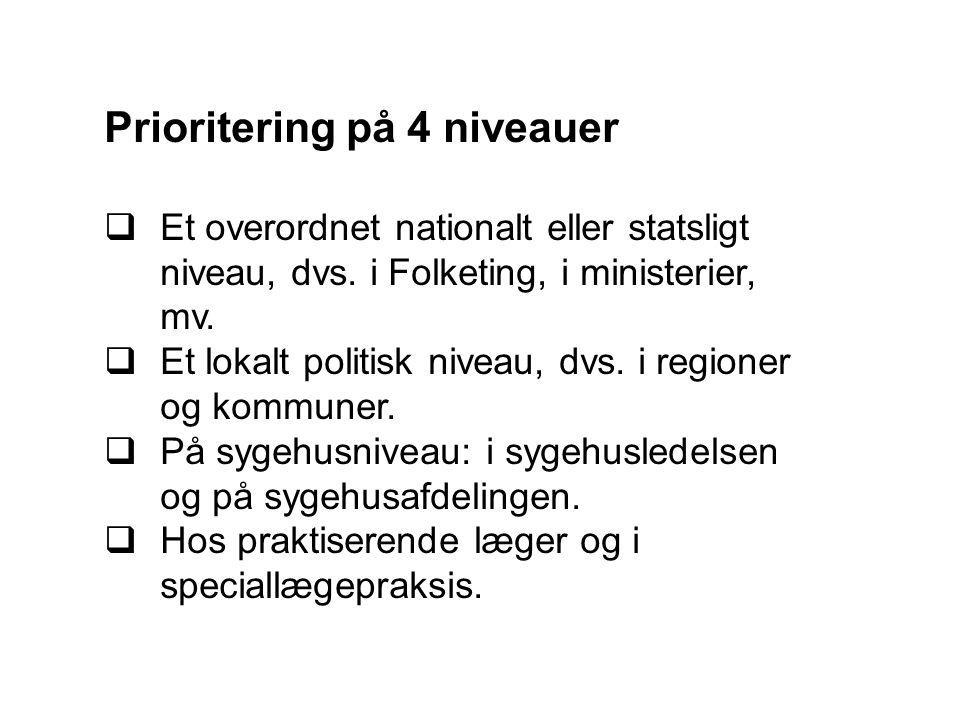 Prioritering på 4 niveauer