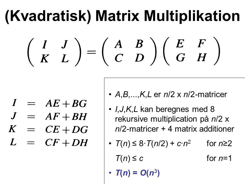 (Kvadratisk) Matrix Multiplikation