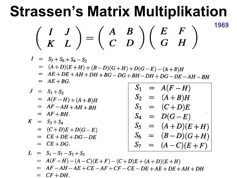 Strassen's Matrix Multiplikation