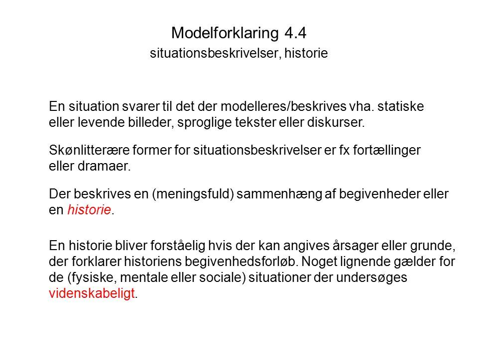 Modelforklaring 4.4 situationsbeskrivelser, historie