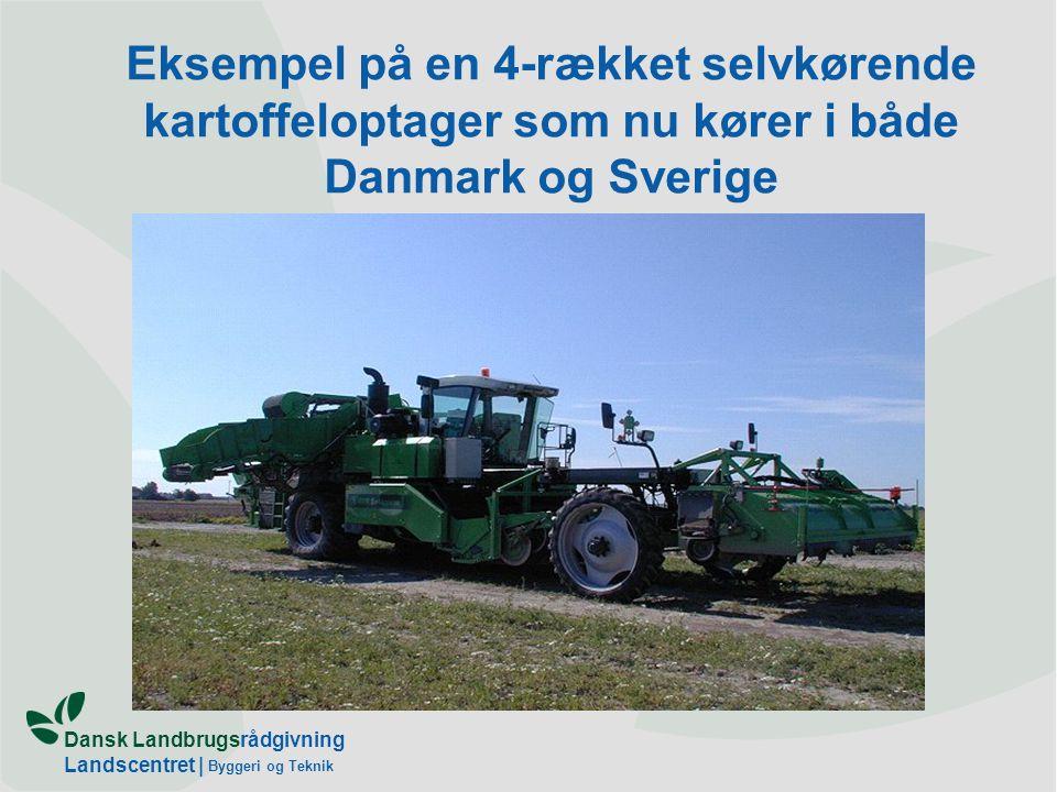 Eksempel på en 4-rækket selvkørende kartoffeloptager som nu kører i både Danmark og Sverige