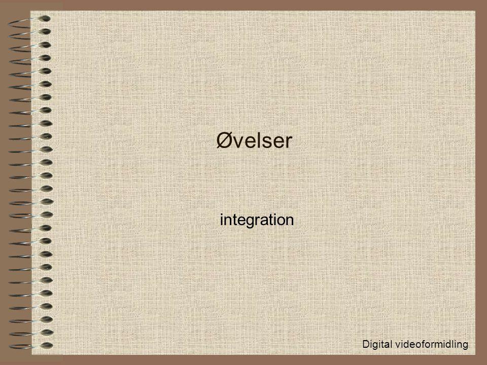 Øvelser integration