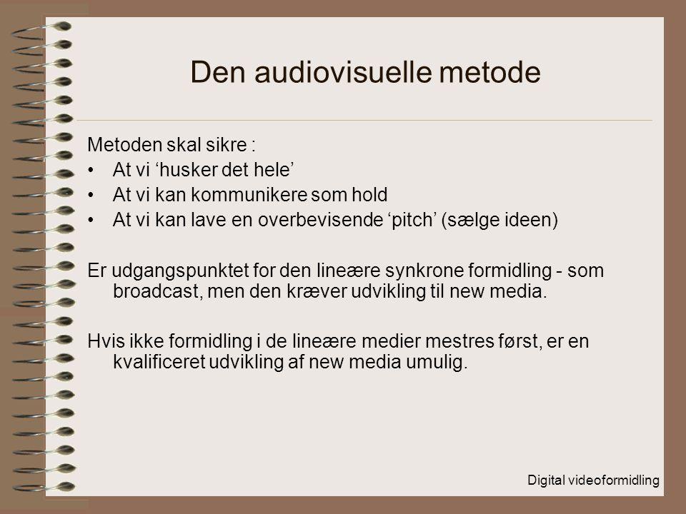 Den audiovisuelle metode