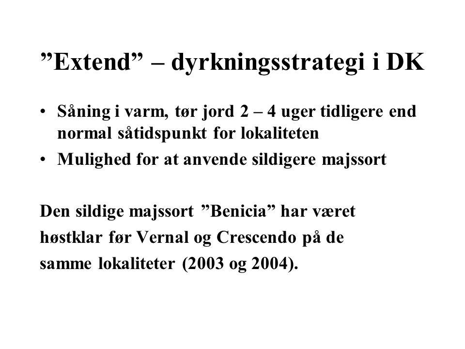 Extend – dyrkningsstrategi i DK