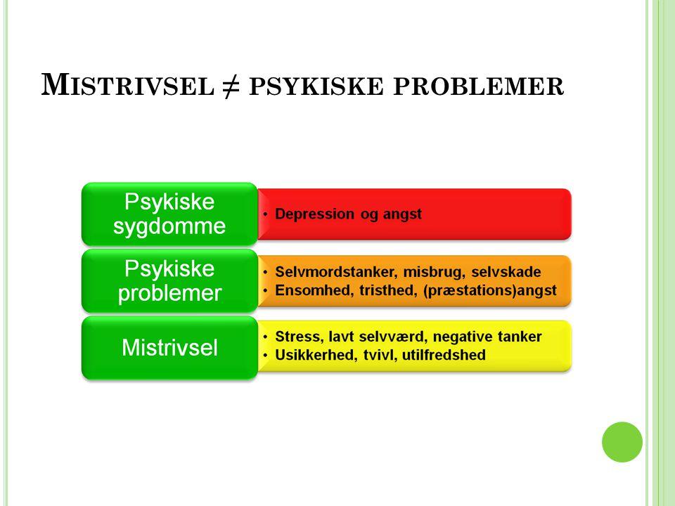 Mistrivsel ≠ psykiske problemer