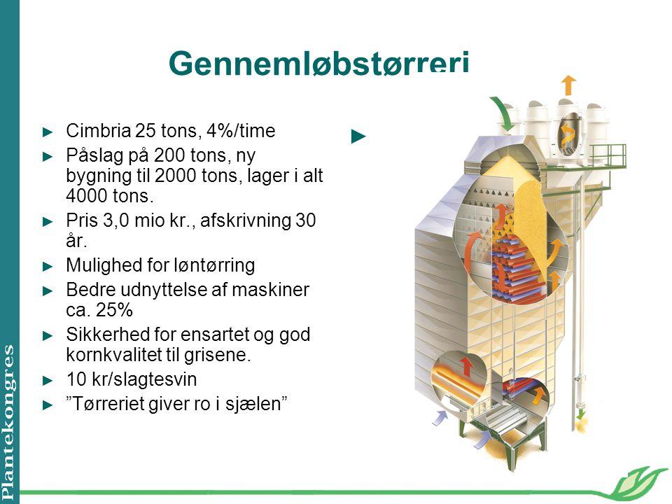 Gennemløbstørreri Cimbria 25 tons, 4%/time