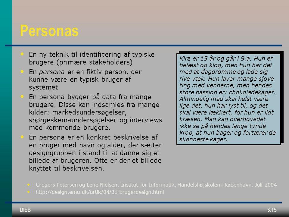 Personas En ny teknik til identificering af typiske brugere (primære stakeholders)