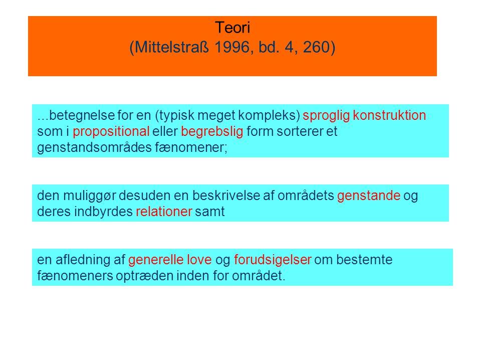 Teori (Mittelstraß 1996, bd. 4, 260)