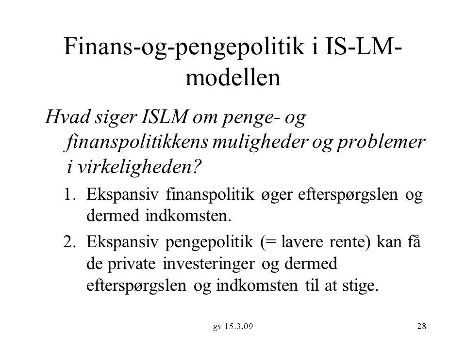 Finans-og-pengepolitik i IS-LM-modellen