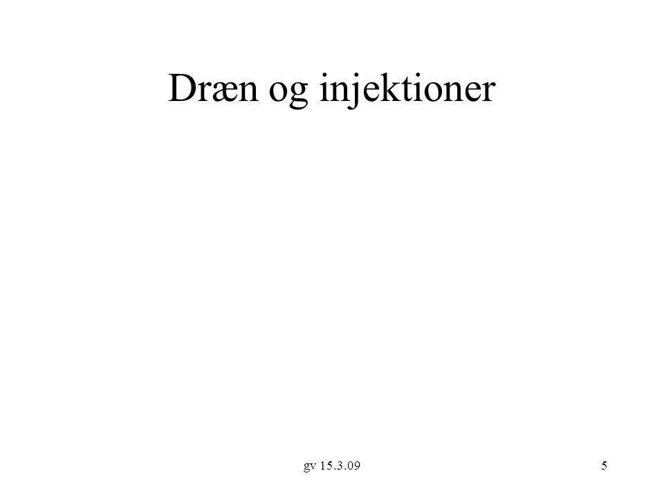 Dræn og injektioner gv 15.3.09