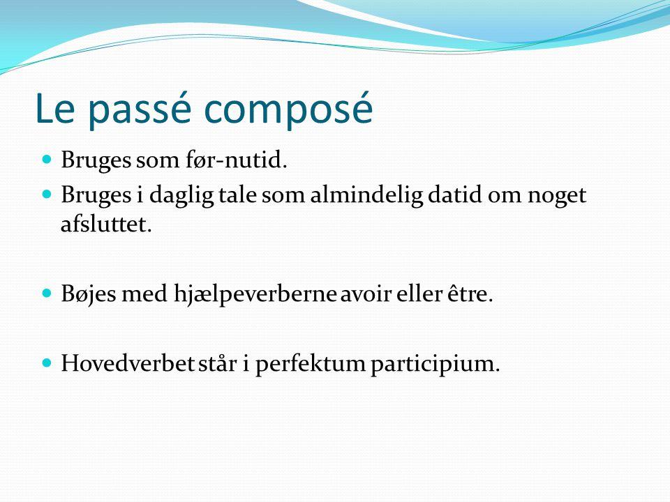 Le passé composé Bruges som før-nutid.