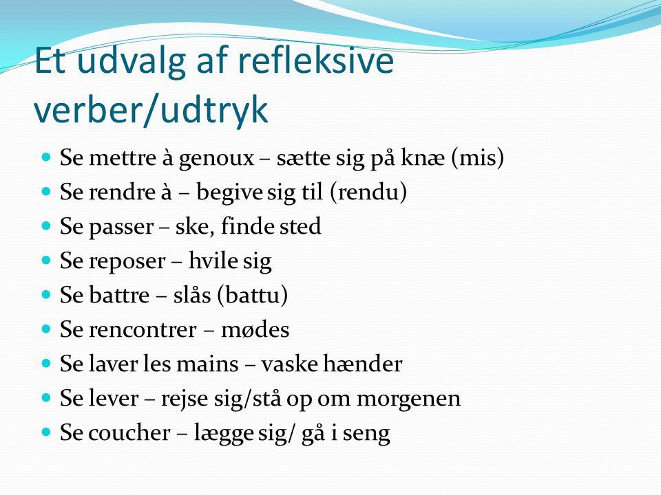 Et udvalg af refleksive verber/udtryk