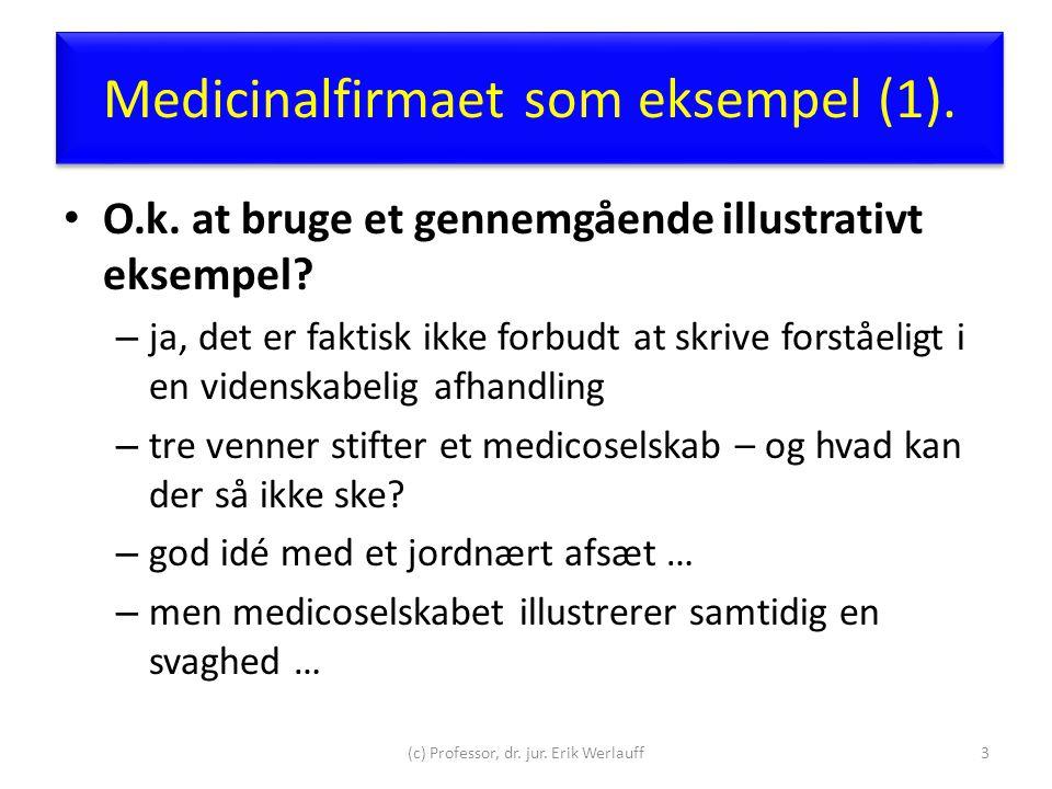 Medicinalfirmaet som eksempel (1).