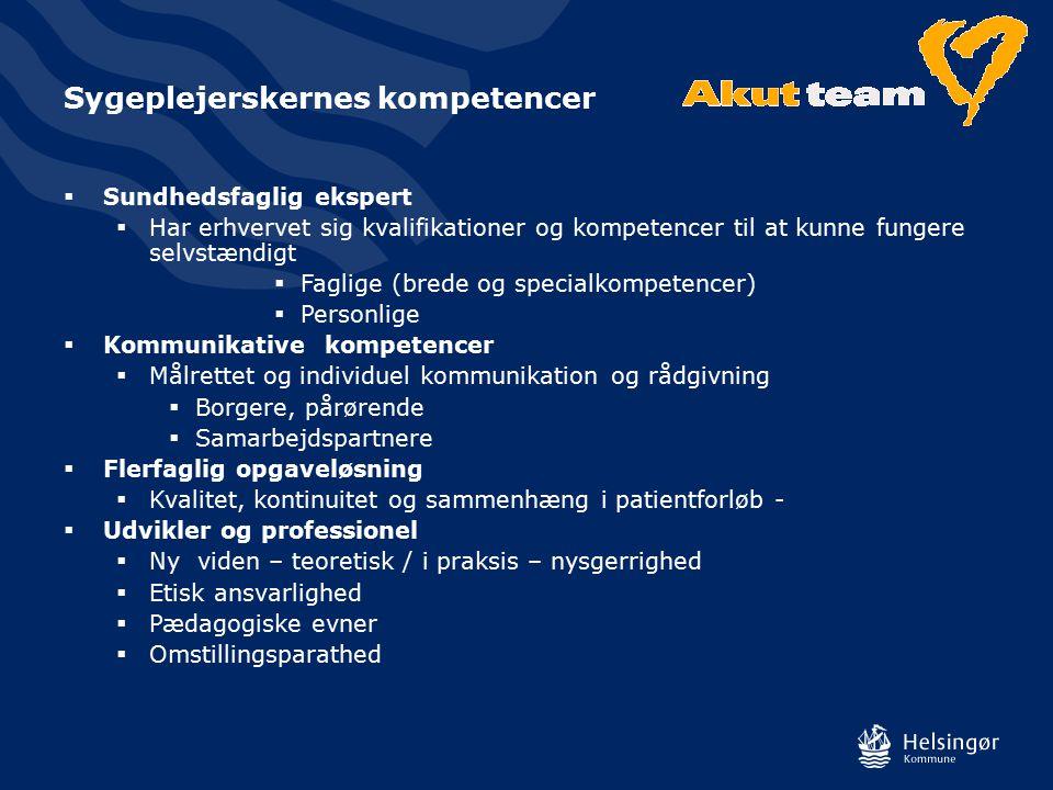 Sygeplejerskernes kompetencer