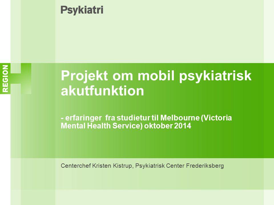 Centerchef Kristen Kistrup, Psykiatrisk Center Frederiksberg