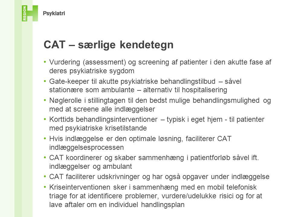 CAT – særlige kendetegn
