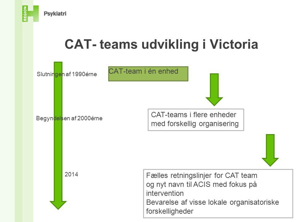 CAT- teams udvikling i Victoria