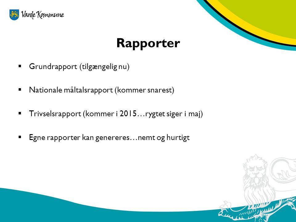 Rapporter Grundrapport (tilgængelig nu)