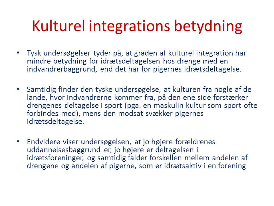 Kulturel integrations betydning
