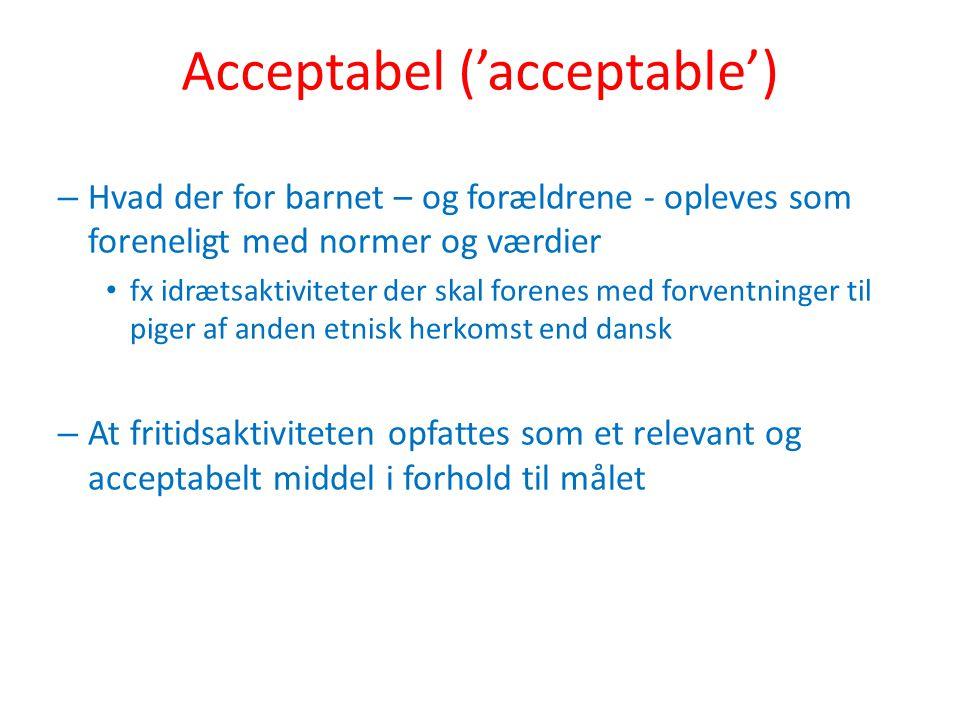 Acceptabel ('acceptable')