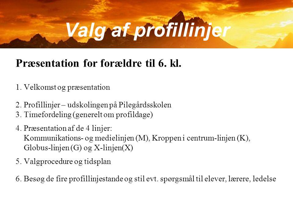 Valg af profillinjer Præsentation for forældre til 6. kl.