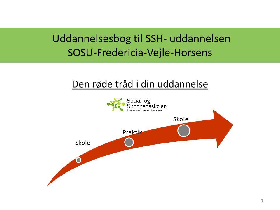 Uddannelsesbog til SSH- uddannelsen SOSU-Fredericia-Vejle-Horsens