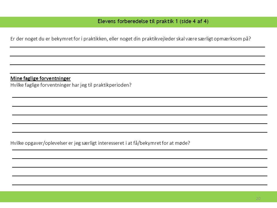 Elevens forberedelse til praktik 1 (side 4 af 4)