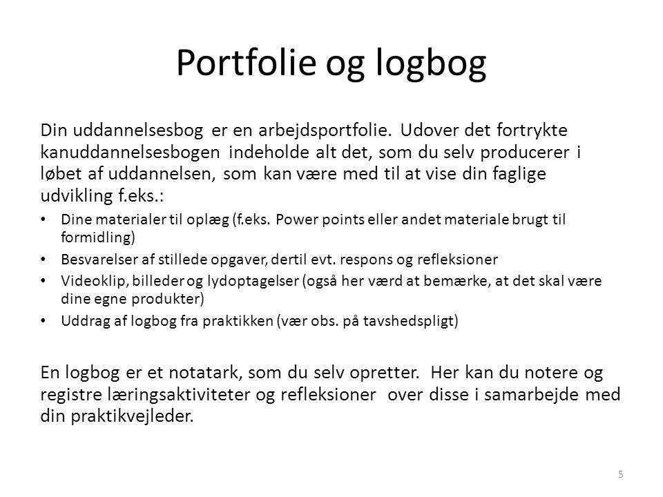 Portfolie og logbog