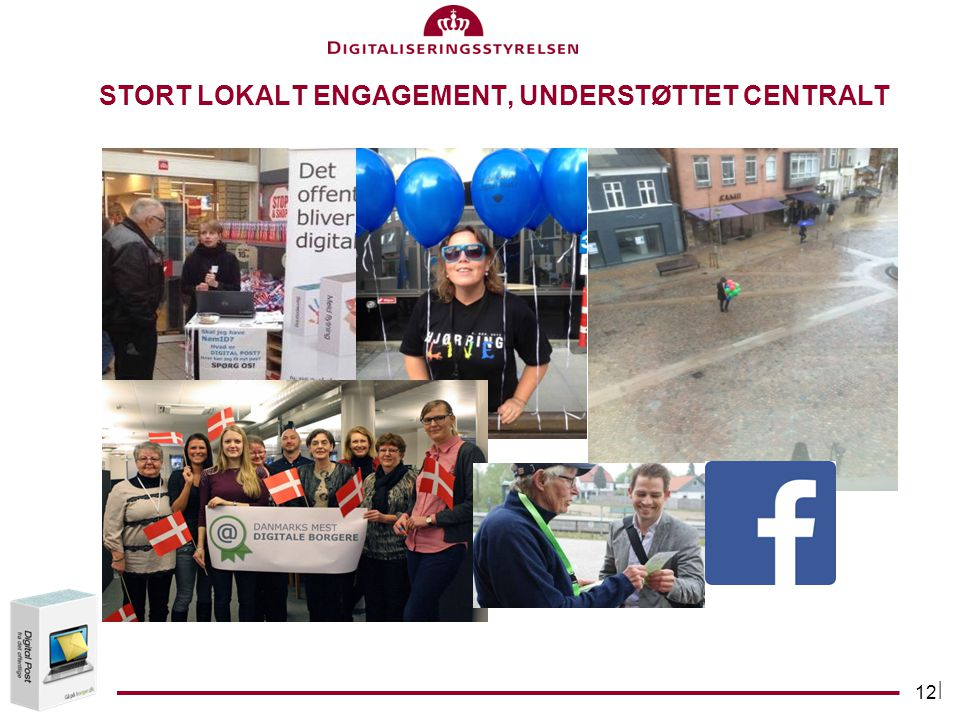 Stort lokalt engagement, understøttet centralt