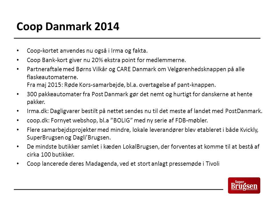 Coop Danmark 2014 Coop-kortet anvendes nu også i Irma og fakta.