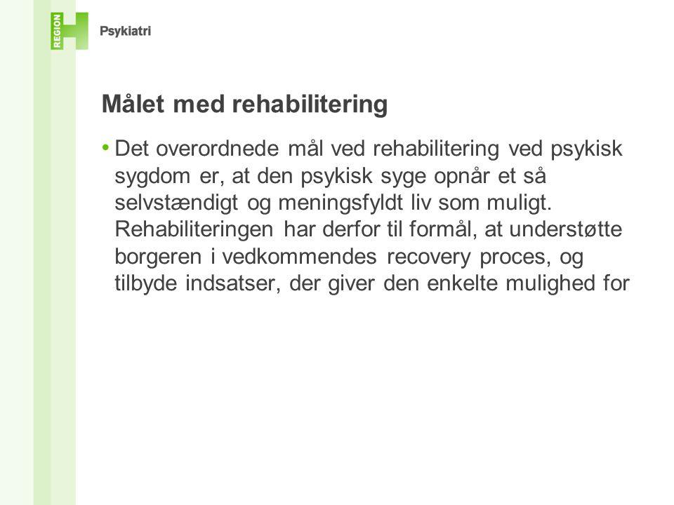 Målet med rehabilitering