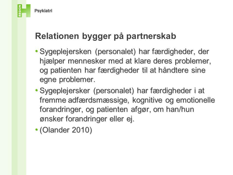 Relationen bygger på partnerskab
