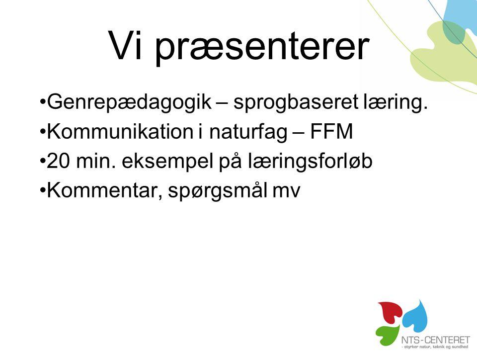 Vi præsenterer Genrepædagogik – sprogbaseret læring.