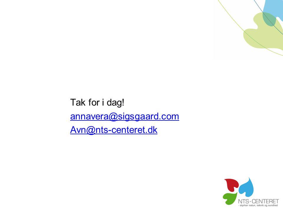 Tak for i dag! annavera@sigsgaard.com Avn@nts-centeret.dk