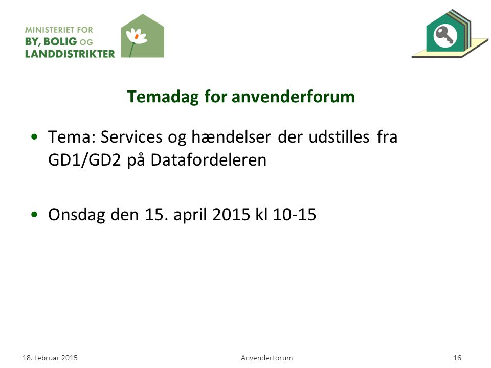 Temadag for anvenderforum