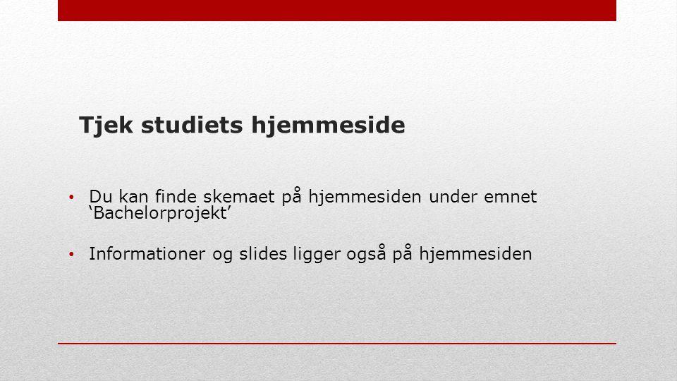 Tjek studiets hjemmeside